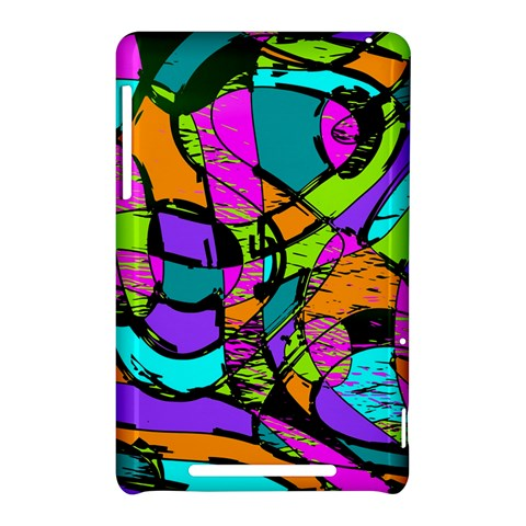 Abstract Sketch Art Squiggly Loops Multicolored Nexus 7 (2012)