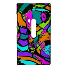 Abstract Sketch Art Squiggly Loops Multicolored Nokia Lumia 920