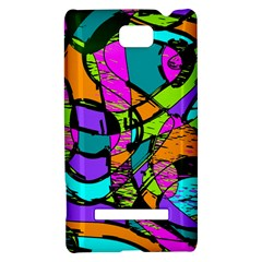 Abstract Sketch Art Squiggly Loops Multicolored HTC 8S Hardshell Case