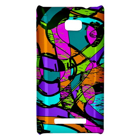 Abstract Sketch Art Squiggly Loops Multicolored HTC 8X