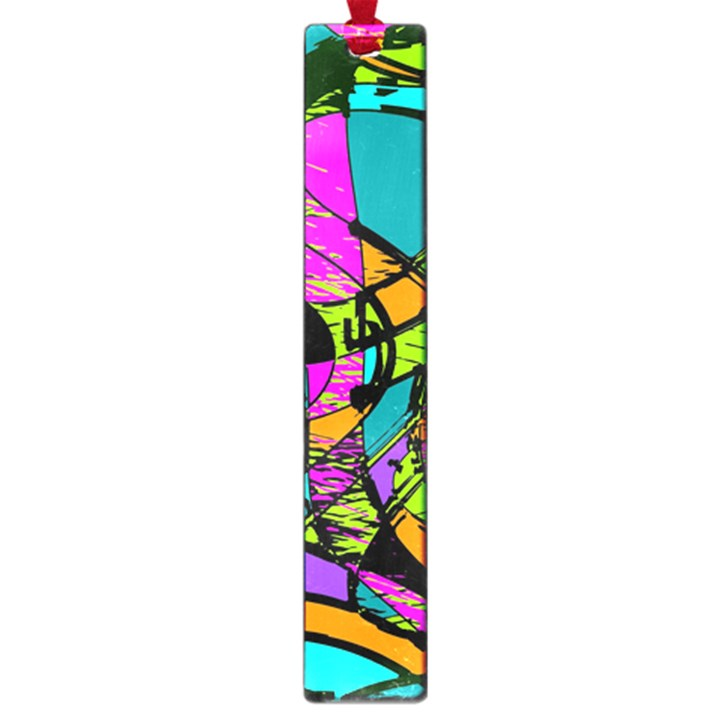 Abstract Sketch Art Squiggly Loops Multicolored Large Book Marks