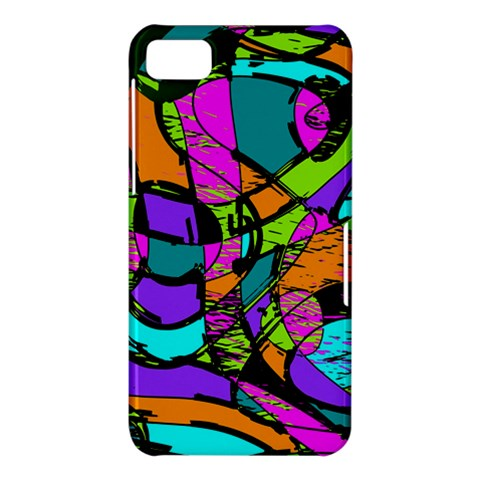 Abstract Sketch Art Squiggly Loops Multicolored BlackBerry Z10