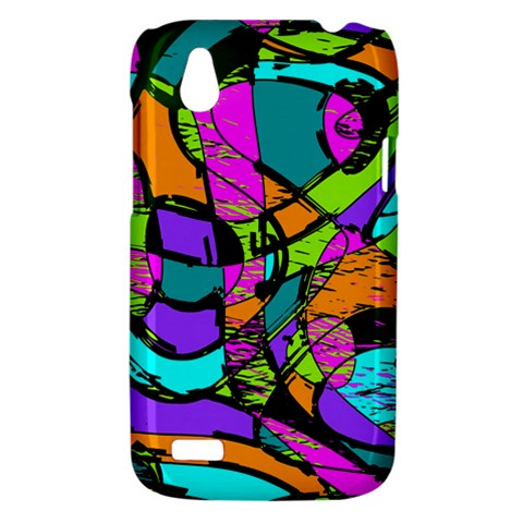 Abstract Sketch Art Squiggly Loops Multicolored HTC Desire V (T328W) Hardshell Case