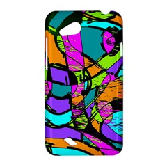 Abstract Sketch Art Squiggly Loops Multicolored HTC Desire VC (T328D) Hardshell Case