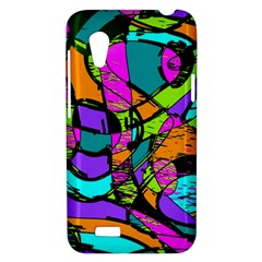 Abstract Sketch Art Squiggly Loops Multicolored HTC Desire VT (T328T) Hardshell Case