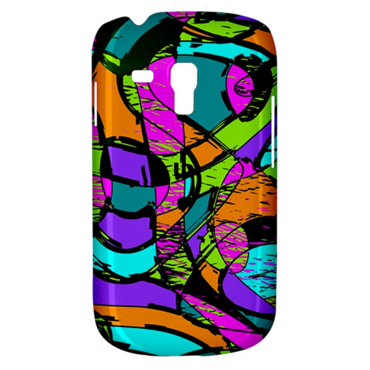 Abstract Sketch Art Squiggly Loops Multicolored Samsung Galaxy S3 MINI I8190 Hardshell Case