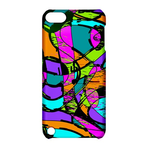 Abstract Sketch Art Squiggly Loops Multicolored Apple iPod Touch 5 Hardshell Case with Stand