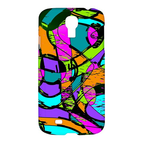 Abstract Sketch Art Squiggly Loops Multicolored Samsung Galaxy S4 I9500/I9505 Hardshell Case