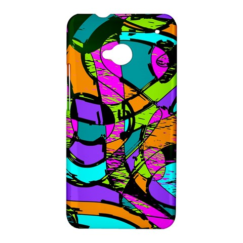 Abstract Sketch Art Squiggly Loops Multicolored HTC One M7 Hardshell Case