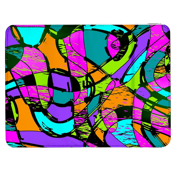 Abstract Sketch Art Squiggly Loops Multicolored Samsung Galaxy Tab 7  P1000 Flip Case