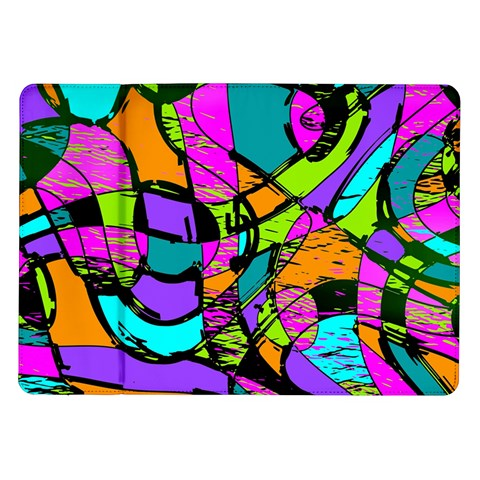 Abstract Sketch Art Squiggly Loops Multicolored Samsung Galaxy Tab 10.1  P7500 Flip Case