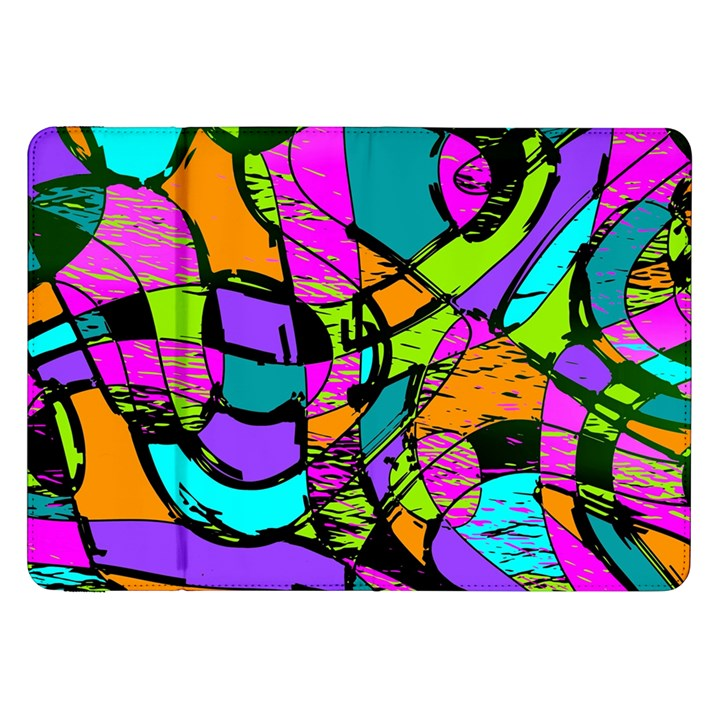 Abstract Sketch Art Squiggly Loops Multicolored Samsung Galaxy Tab 8.9  P7300 Flip Case
