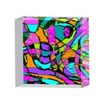 Abstract Sketch Art Squiggly Loops Multicolored 4 x 4  Acrylic Photo Blocks Front
