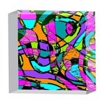 Abstract Sketch Art Squiggly Loops Multicolored 5  x 5  Acrylic Photo Blocks Front