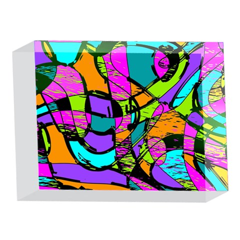 Abstract Sketch Art Squiggly Loops Multicolored 5 x 7  Acrylic Photo Blocks