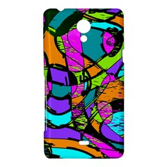 Abstract Sketch Art Squiggly Loops Multicolored Sony Xperia T