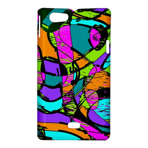 Abstract Sketch Art Squiggly Loops Multicolored Sony Xperia Miro