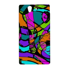 Abstract Sketch Art Squiggly Loops Multicolored Sony Xperia Z