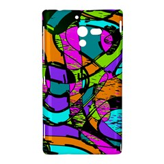 Abstract Sketch Art Squiggly Loops Multicolored Sony Xperia ZL (L35H)