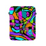 Abstract Sketch Art Squiggly Loops Multicolored Apple iPad 2/3/4 Protective Soft Cases Front