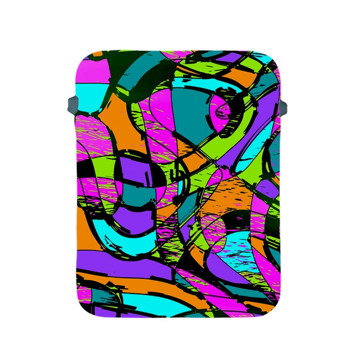 Abstract Sketch Art Squiggly Loops Multicolored Apple iPad 2/3/4 Protective Soft Cases