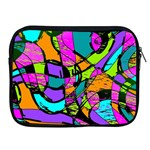 Abstract Sketch Art Squiggly Loops Multicolored Apple iPad 2/3/4 Zipper Cases Front