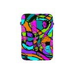Abstract Sketch Art Squiggly Loops Multicolored Apple iPad Mini Protective Soft Cases Front
