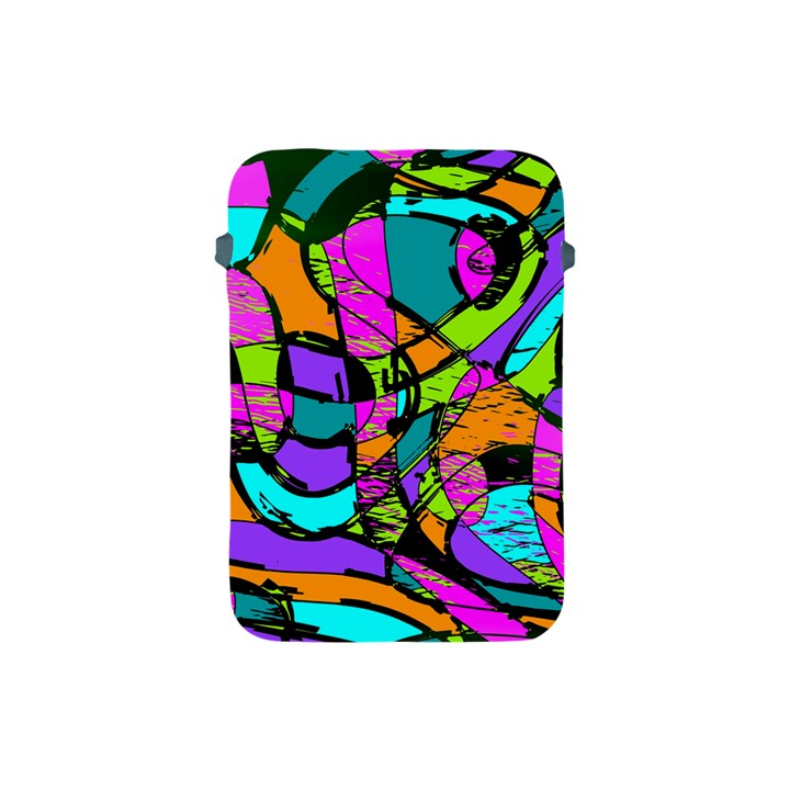 Abstract Sketch Art Squiggly Loops Multicolored Apple iPad Mini Protective Soft Cases