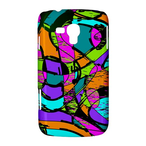 Abstract Sketch Art Squiggly Loops Multicolored Samsung Galaxy Duos I8262 Hardshell Case