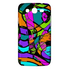 Abstract Sketch Art Squiggly Loops Multicolored Samsung Galaxy Mega 5 8 I9152 Hardshell Case