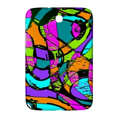 Abstract Sketch Art Squiggly Loops Multicolored Samsung Galaxy Note 8 0 N5100 Hardshell Case