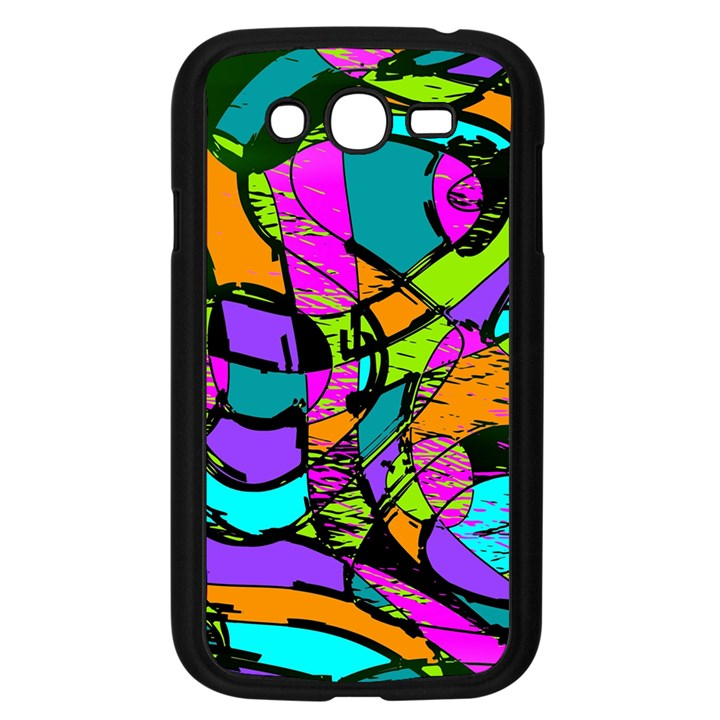 Abstract Sketch Art Squiggly Loops Multicolored Samsung Galaxy Grand DUOS I9082 Case (Black)