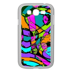 Abstract Sketch Art Squiggly Loops Multicolored Samsung Galaxy Grand DUOS I9082 Case (White)