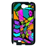 Abstract Sketch Art Squiggly Loops Multicolored Samsung Galaxy Note 2 Case (Black) Front