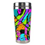 Abstract Sketch Art Squiggly Loops Multicolored Stainless Steel Travel Tumblers Right