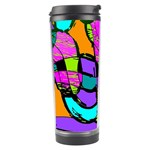 Abstract Sketch Art Squiggly Loops Multicolored Travel Tumbler Left