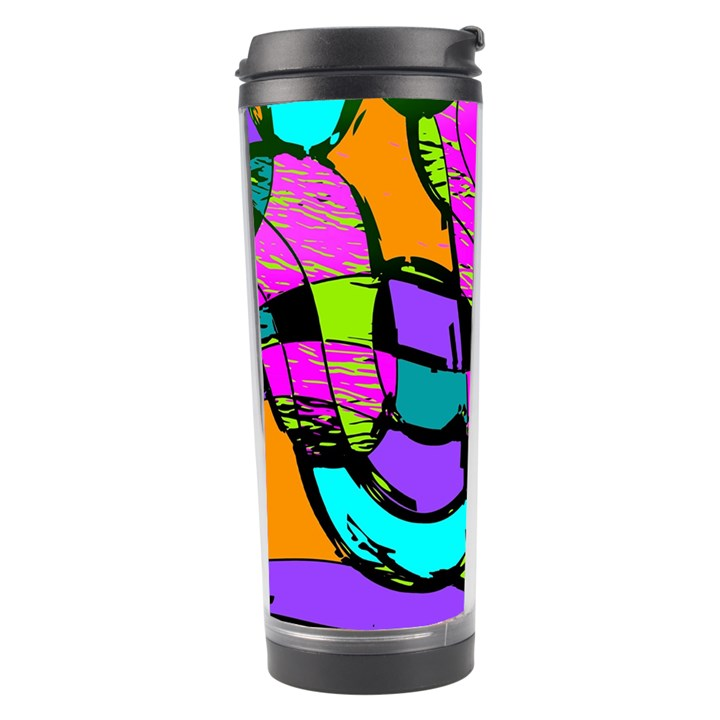 Abstract Sketch Art Squiggly Loops Multicolored Travel Tumbler