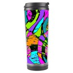 Abstract Sketch Art Squiggly Loops Multicolored Travel Tumbler Right