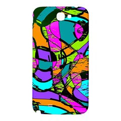 Abstract Sketch Art Squiggly Loops Multicolored Samsung Note 2 N7100 Hardshell Back Case