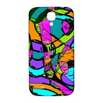 Abstract Sketch Art Squiggly Loops Multicolored Samsung Galaxy S4 I9500/I9505  Hardshell Back Case Front