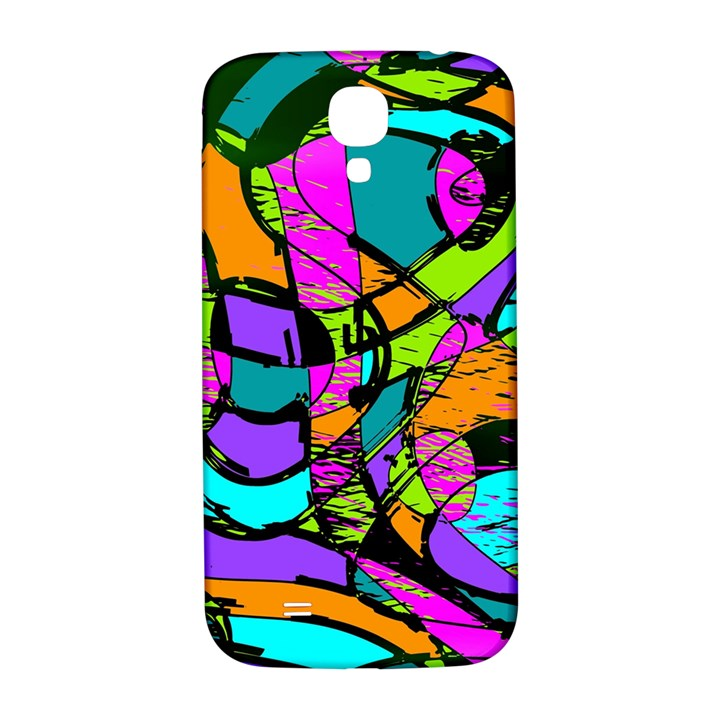 Abstract Sketch Art Squiggly Loops Multicolored Samsung Galaxy S4 I9500/I9505  Hardshell Back Case