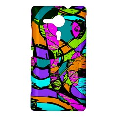 Abstract Sketch Art Squiggly Loops Multicolored Sony Xperia SP