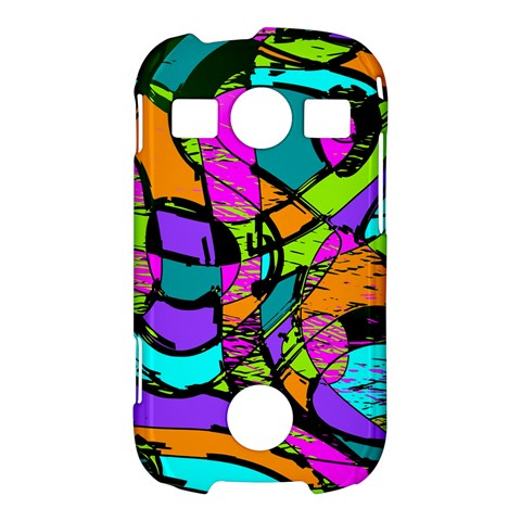 Abstract Sketch Art Squiggly Loops Multicolored Samsung Galaxy S7710 Xcover 2 Hardshell Case