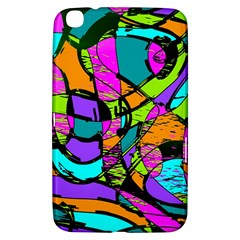 Abstract Sketch Art Squiggly Loops Multicolored Samsung Galaxy Tab 3 (8 ) T3100 Hardshell Case