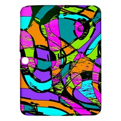 Abstract Sketch Art Squiggly Loops Multicolored Samsung Galaxy Tab 3 (10 1 ) P5200 Hardshell Case
