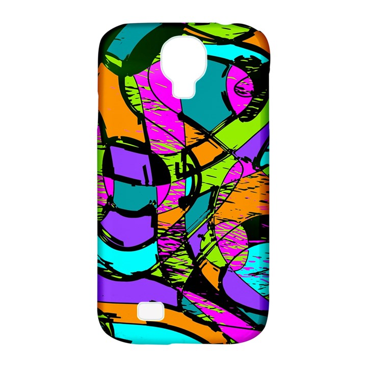 Abstract Sketch Art Squiggly Loops Multicolored Samsung Galaxy S4 Classic Hardshell Case (PC+Silicone)
