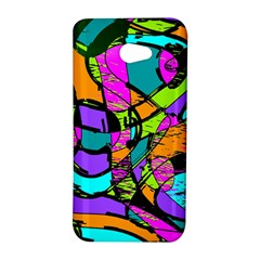 Abstract Sketch Art Squiggly Loops Multicolored HTC Butterfly S/HTC 9060 Hardshell Case