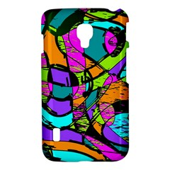 Abstract Sketch Art Squiggly Loops Multicolored LG Optimus L7 II