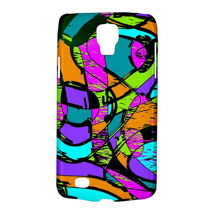 Abstract Sketch Art Squiggly Loops Multicolored Galaxy S4 Active