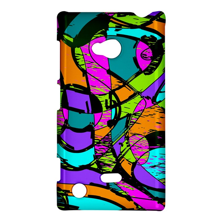 Abstract Sketch Art Squiggly Loops Multicolored Nokia Lumia 720